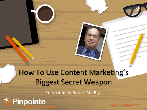 Webinar: How To Use Content Marketing's Biggest Secret Weapon